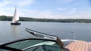 Jezioro Ukiel w Olsztynie - widok z jachtu