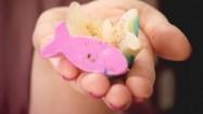 Kolorowe mydełka w kształcie rybek