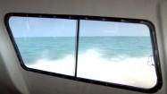 Łódź płynąca po Morzu Karaibskim