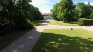 Barokowy pałac i ogród w Nieborowie z lotu ptaka