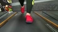 Nogi na bieżni w klubie fitness