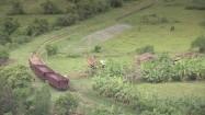 Kuba - wagony towarowe i tory kolejowe