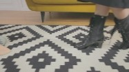Nogi kobiety i manekina