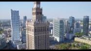 Pałac Kultury i Nauki w Warszawie - widok z drona