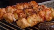 Szaszłyki z kurczakiem na grillu