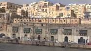 Zabudowania Valletty - widok z płynącego statku