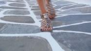 Kobieta w sandałach