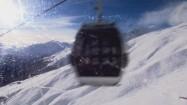 Ośnieżony stok w Alpach