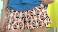 Krótkie spodenki z kwiatowym wzorem