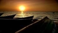 Zachód słońca na plaży w Tanzanii