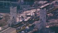 Ruch drogowy na Moście Poniatowskiego