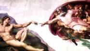 """Fresk Michała Anioła """"Stworzenie Adama"""""""