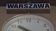 Zegar - czas w Warszawie