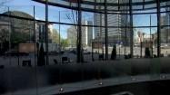 Skrzyżowanie ulic Jana Pawła II i Grzybowskiej - widok z jadącej windy