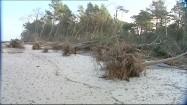 Wybrzeże zniszczone po przejściu orkanu