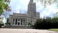 Pałac Kultury i Nauki w Warszawie - widok od ulicy Świętokrzyskiej