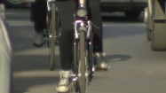 Jadący rowerzyści