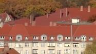 Budynki na przedmieściach Berlina