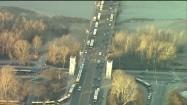 Ruch drogowy na Moście Poniatowskiego w Warszawie