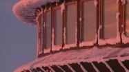 Okna obserwatorium meteorologicznego na Śnieżce