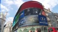 Reklamy na Piccadilly Circus w Londynie