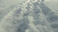 Ślady na śniegu - wydeptana ścieżka