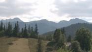 Zachmurzone niebo nad Tatrami