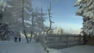 Turyści na zimowym szlaku