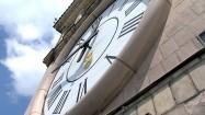 Zegar na wieży Pałacu Kultury i Nauki w Warszawie