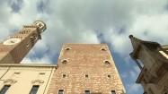 Palazzo della Ragione i Torre dei Lamberti w Weronie