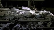 Wózki z węglem w kopalni