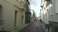 Wąska uliczka w Atenach