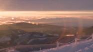 Wschód słońca - widok ze Śnieżki